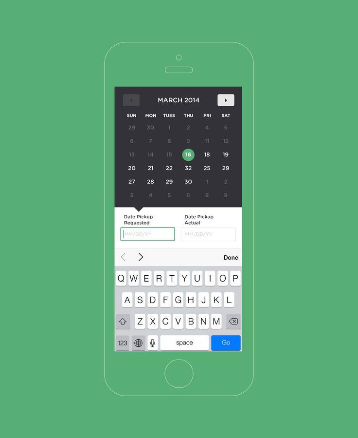 Calendar | matt d.smith | dribbble