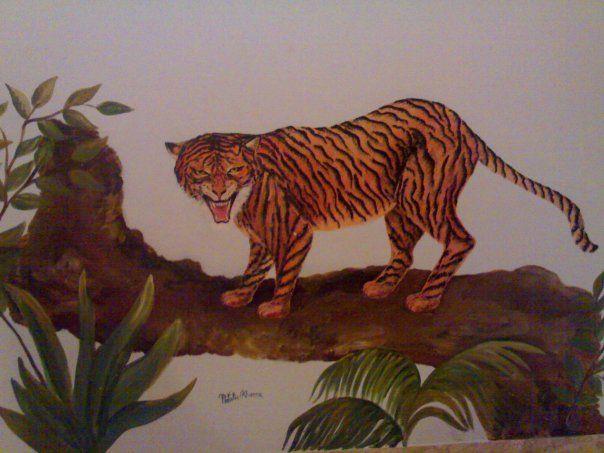 """pareti dipinte """" Tigre""""autore  Natalia Albanese"""