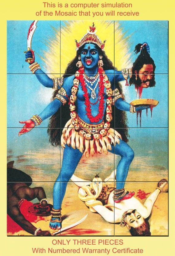 Ehi, ho trovato questa fantastica inserzione di Etsy su https://www.etsy.com/it/listing/242506343/kali-hindu-wall-art-ceramic-mosaic