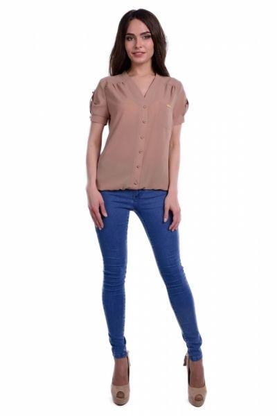 Блузки цвета мокко из крепа