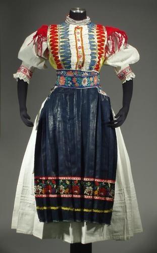 Slovak Folk Costume Liptov Regional Ethnic Dress Slovakia Embroidered Blouse
