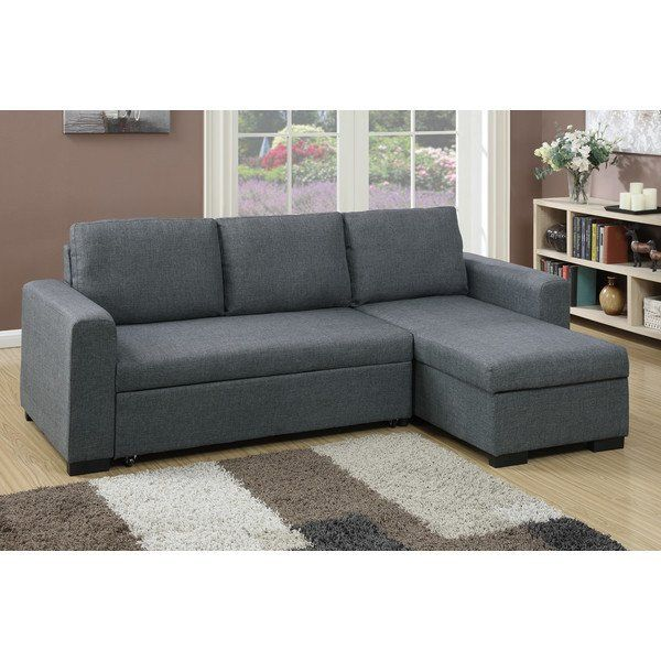 2-pcs Sectional Pull Out Bed w/storage