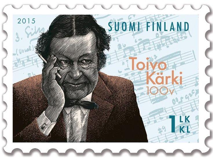 Postimerkki Toivo Kärki 100 vuotta (2.3.2015)