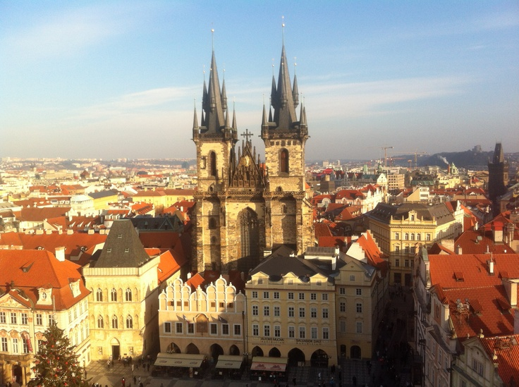 View from clock tower, Old Town Square, Prague