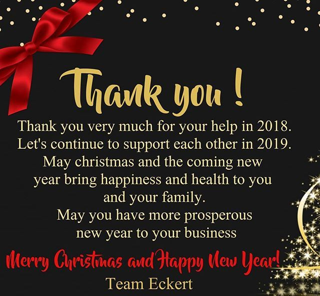 Thank You May Christmas And The Coming New Year Bring Happiness