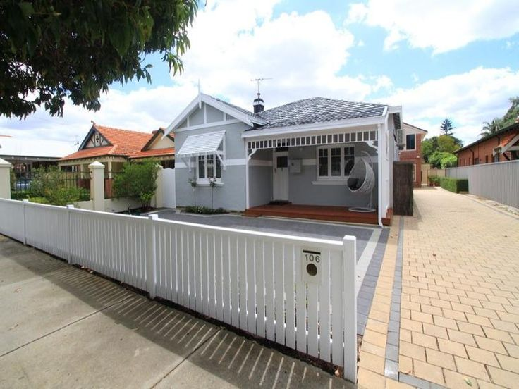 White Picket Fence Grey Colour Scheme Dream Home To
