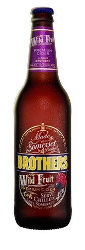 [Brothers Wild Fruit Premium Cider (4% ABV)] It has taken 4 Brothers and 14 generations of cider makers, from the Showering family, to create this unique Wild Fruit Cider. First created by festival goers mixing our other flavours together, we've added some extra Raspberries, Blueberries and Blackberries. Enjoy it chilled, like Somerset.