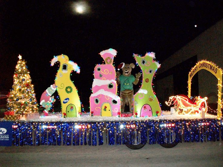 grinch stole christmas parade float - Google Search