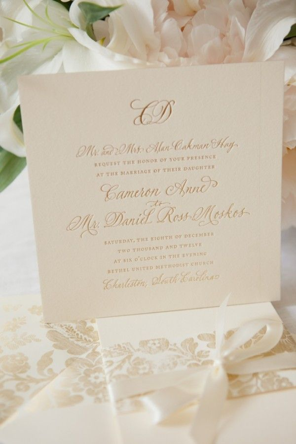 Ivory and gold wedding invitation 101 best