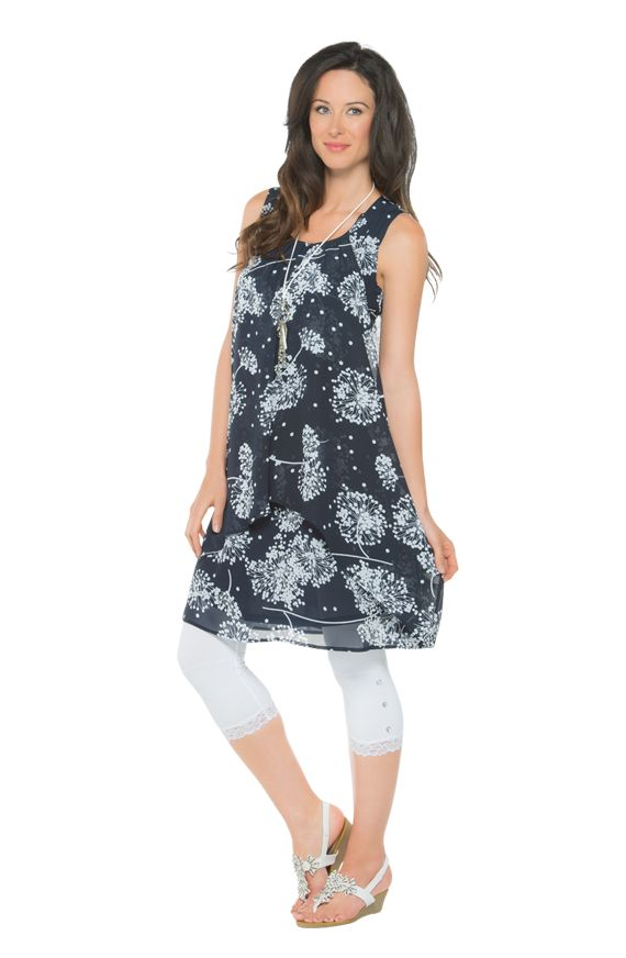 Weekend rhymes with comfort.  For this look, comfort is also fabulously feminine! Add some nice accessories to a print chiffon dress.