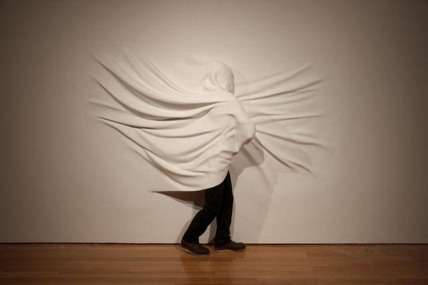 """Wrapped Figure,"" Daniel Arsham. Courtesy of Fabric Workshop & Museum."