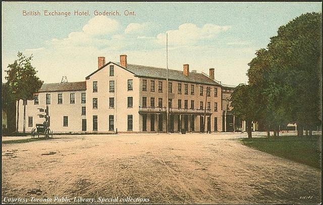 British Exchange Hotel, Goderich, Ontario c.1910 #Goderich #RediscoverGoderich #VintageGoderich