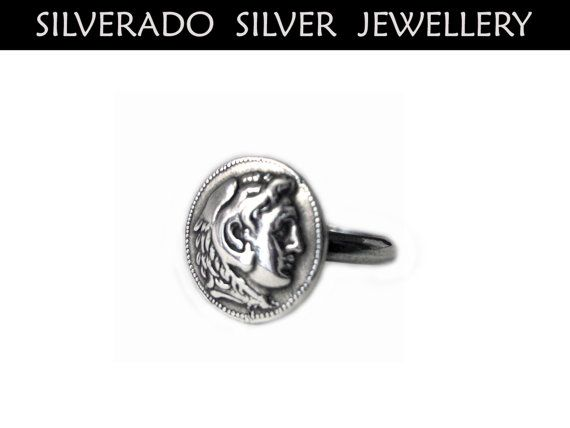 Sterling Silver 925 Ring Ancient Greek by SilveradoJewellery, €25.00