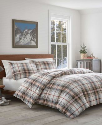 Eddie Bauer Classic Plaid Red Twin Duvet Set