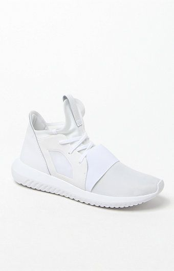 Online Only! Upgrade your streetwear style in the Tubular Defiant White Sneakers…