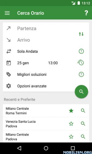 Train Timetable Italy v8.10.2 [Pro]Requirements: 4.0.1 and upOverview: Free application for searching italian train timetables. Includes trains of Trenitalia, Trenord, Italo and many others!  ☆ Features– Search timetables– Search train by...