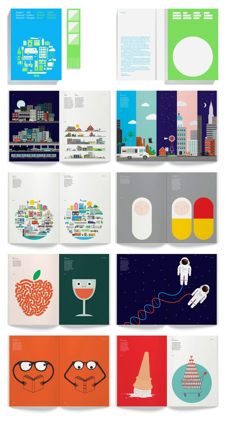 Book Design for Robert Hanson, a berlin-based freelance illustrator. Design by Leterme Dowling design studio. #RobertHanson #Illustration #LetermeDowling