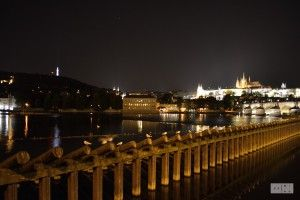 Prague at night