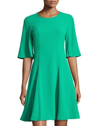 Emery Half-Sleeve  A-line Dress by CeCe by Cynthia Steffe at Neiman Marcus Last Call.