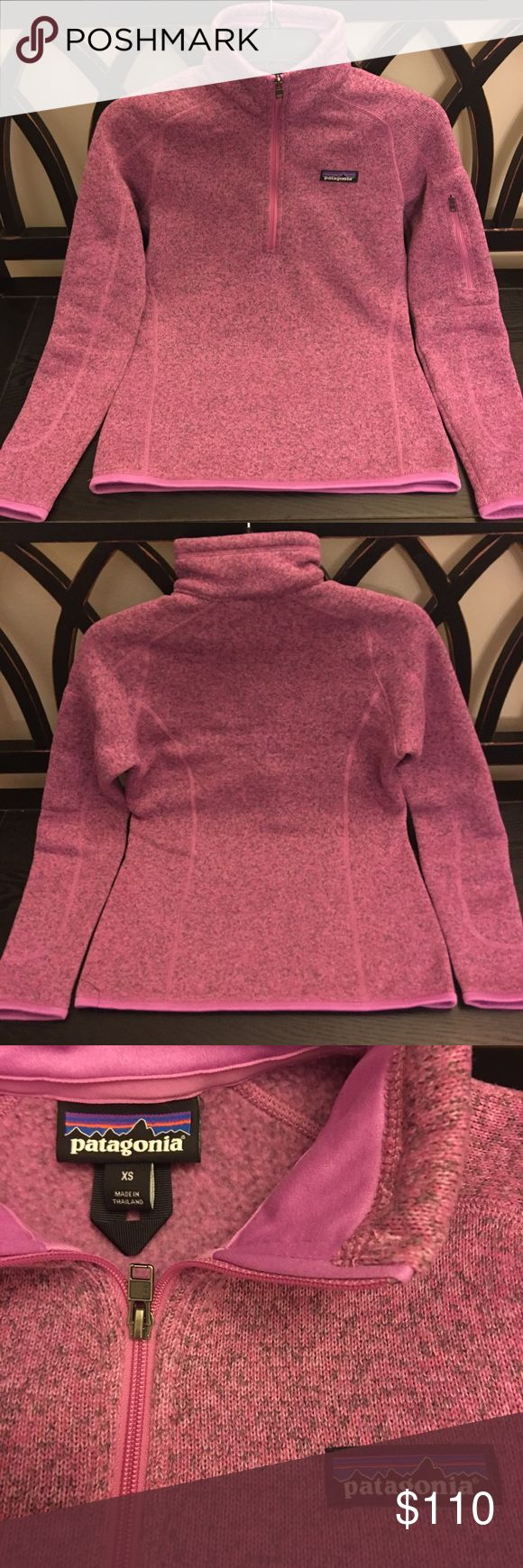 Patagonia better Sweater Xs, rare pink and grey, slim fit, and really cute!  NWOT Patagonia Sweaters Cowl & Turtlenecks