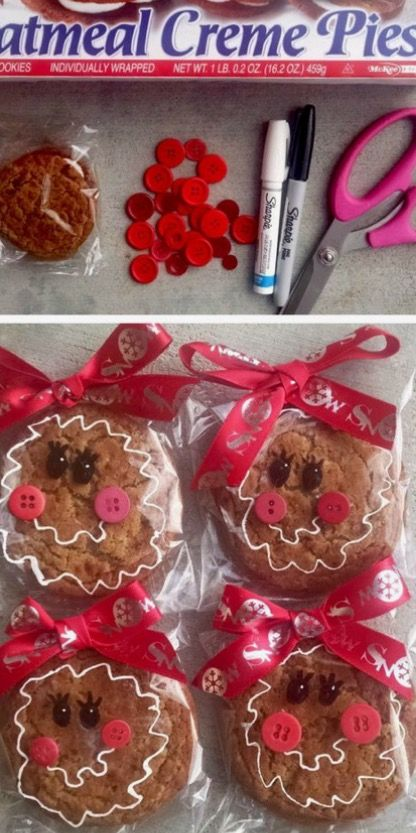 There is no credit given on this craft, but you can tell by looking how to make.  My class LOVES these Lil Debbie Oatmeal Cream Pies so we will be making these! xo laura www.mytimefriends.com