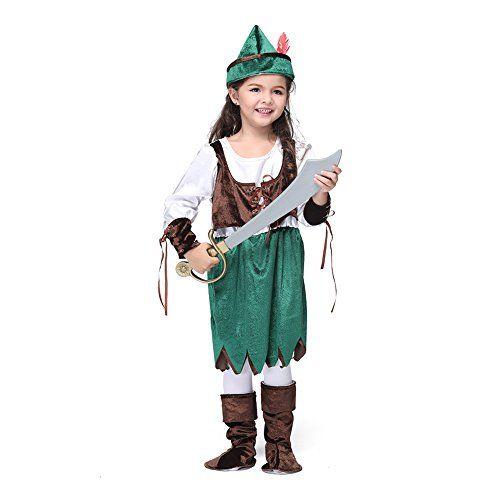 Well Trade Robin Hood Costume for Girls (Medium) @ niftywarehouse.com #NiftyWarehouse #Halloween #Scary #Fun #Ideas