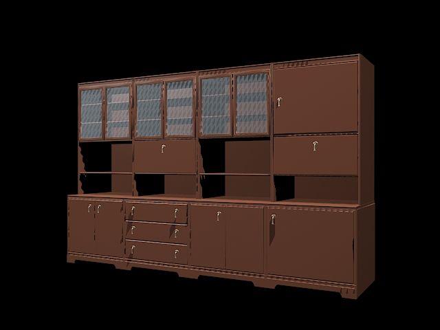 Office wall storage unit 3d model | Wall storage, Office