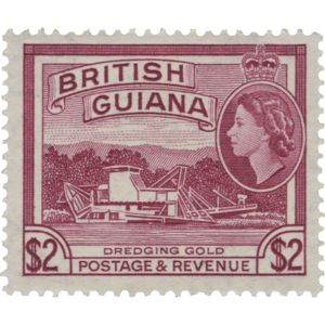 British Guiana 1961 (Unused) $2 Dredging Gold