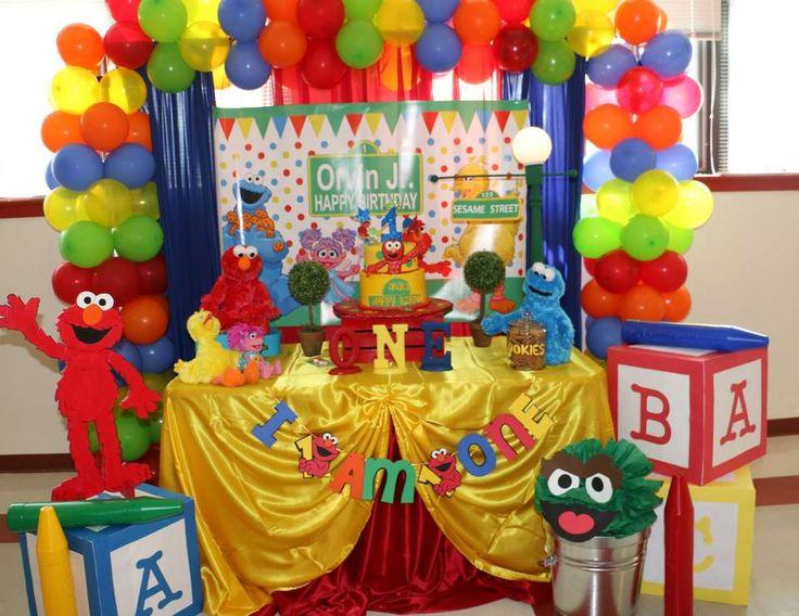 """Birthday """"Elmo/Sesame Street 1st Birthday """"   Catch My Party"""