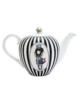 Gorjuss Teapot - The Hatter   Santoro London