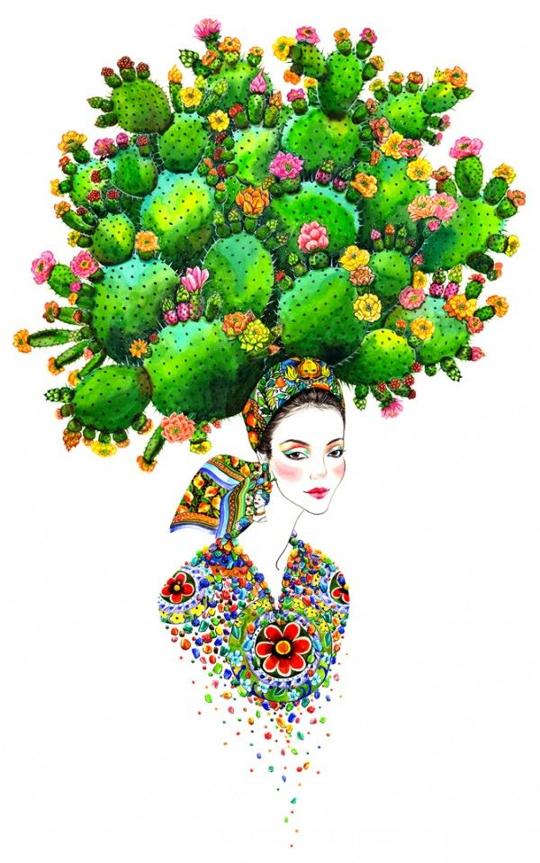 Sunny Gu's Fashion Illustrations, watercolour with occasional use of graphite and acrylic paint.