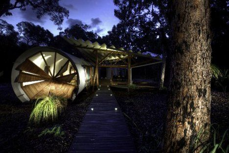 Down Under Luxury: Back-To-Nature Retreat Gets Elegant.  The Drew House was designed by Simon Laws of Anthill Constructions as a luxury campsite for a family on the eastern Australian coast. Near a town called Seventeen Seventy, the structure sits amongst ancient trees near the start of the Great Barrier Reef.