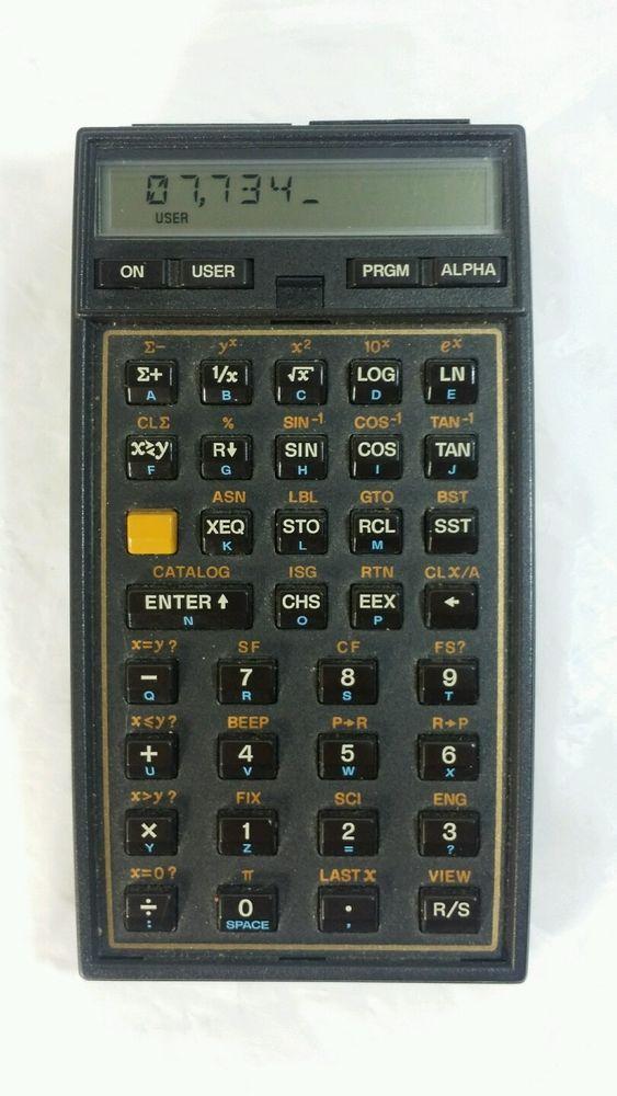 HP-41CX Hewlett Packard Calculator HP 41CX Works #HP