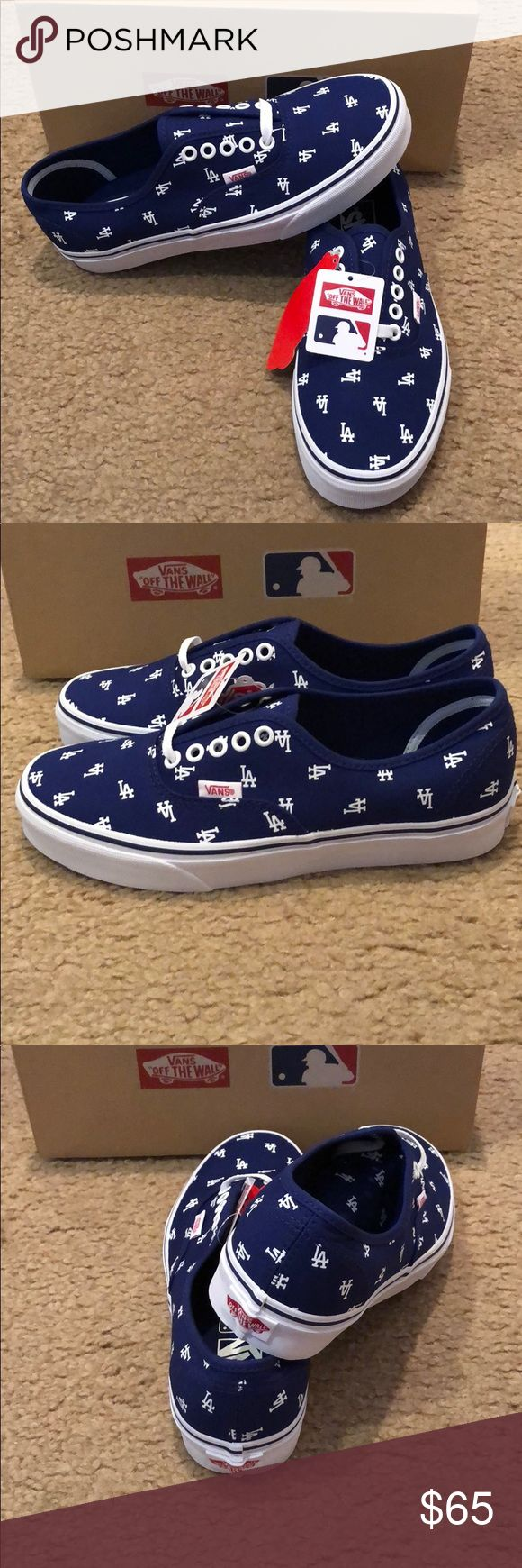 MLB Los Angeles Dodgers Authentic Vans New in box. Vans Shoes Sneakers
