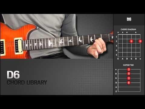 Guitar Chord Library : D Chords - D6 - YouTube | Guitar Chords - \