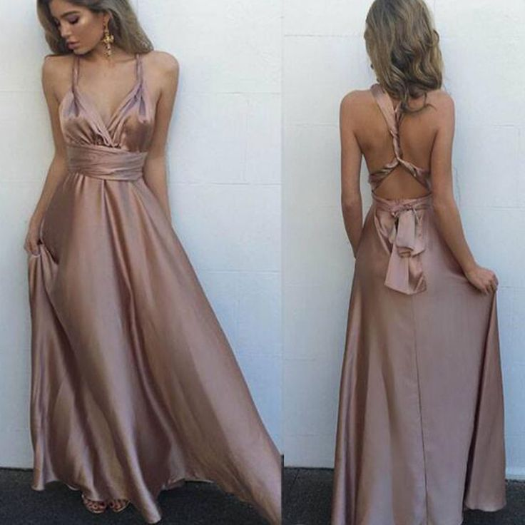 2017 Long Simple Sexy Floor-length A-line Sexy Pretty Prom Dresses.RG0077