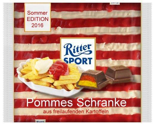 RITTER SPORT Fake Pommes Schranke