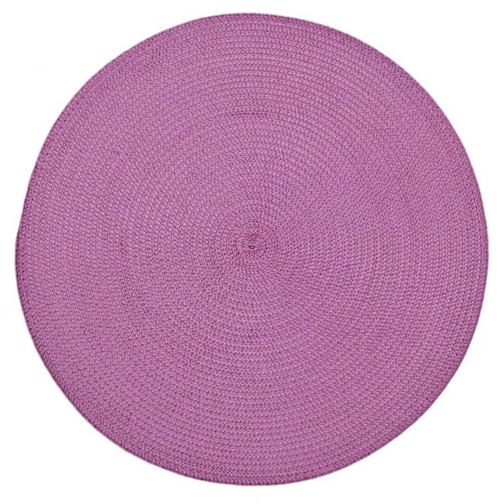 Růžové prostírání na stůl kruhového tvaru