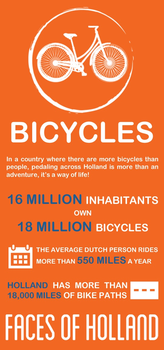 Meet the bicycles, one of the six Faces of Holland. Act like the Dutch and discover Holland by bike (http://www.holland.com/us/tourism/interests/faces-of-holland.htm).  #greetingsfromnl