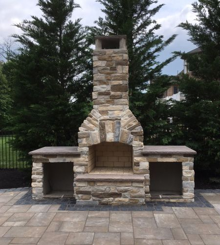 144 Best Fireplaces Images On Pinterest Backyard Ideas