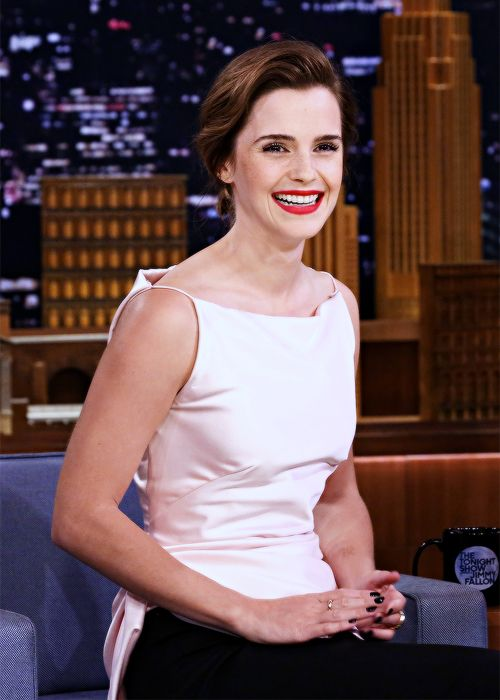 Emma Watson - Tonight Show starring Jimmy Fallon (4/27/17). Pinned by @lilyriverside