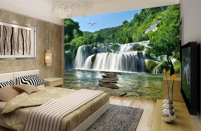 les 19 meilleures images du tableau papier peint photo trompe l 39 oeil 3d paysage extension d. Black Bedroom Furniture Sets. Home Design Ideas