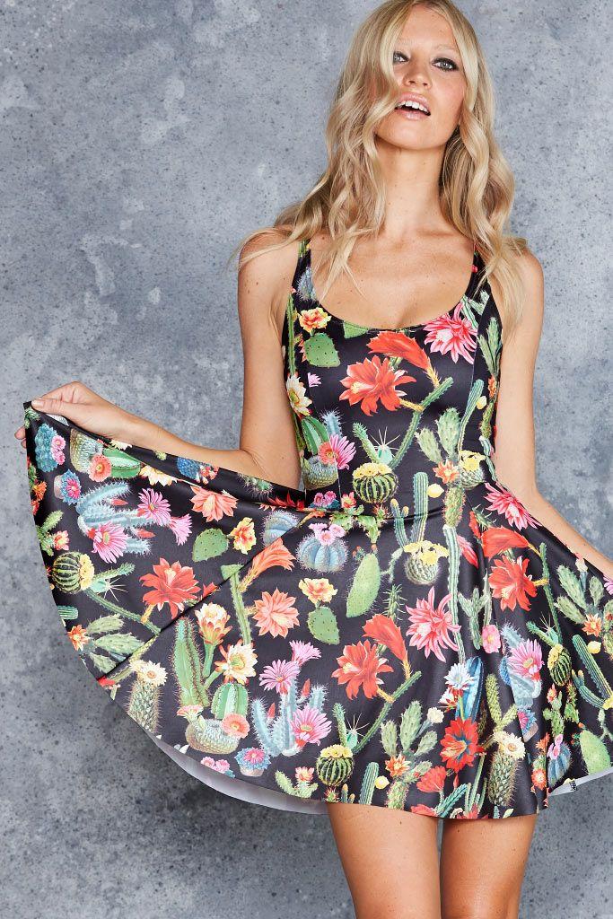 Desert Flower Evil Skater Dress - 48HR ($85AUD) by BlackMilk Clothing