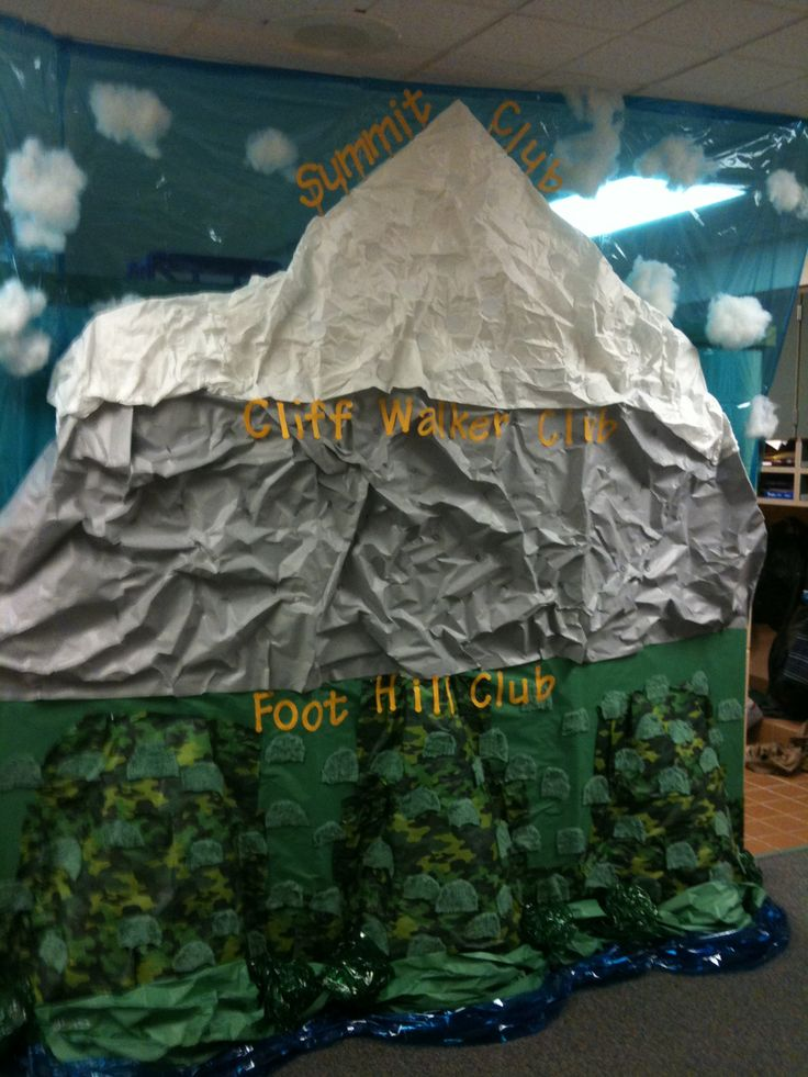 Mountain Built To Show Progress Of Kids In Class In