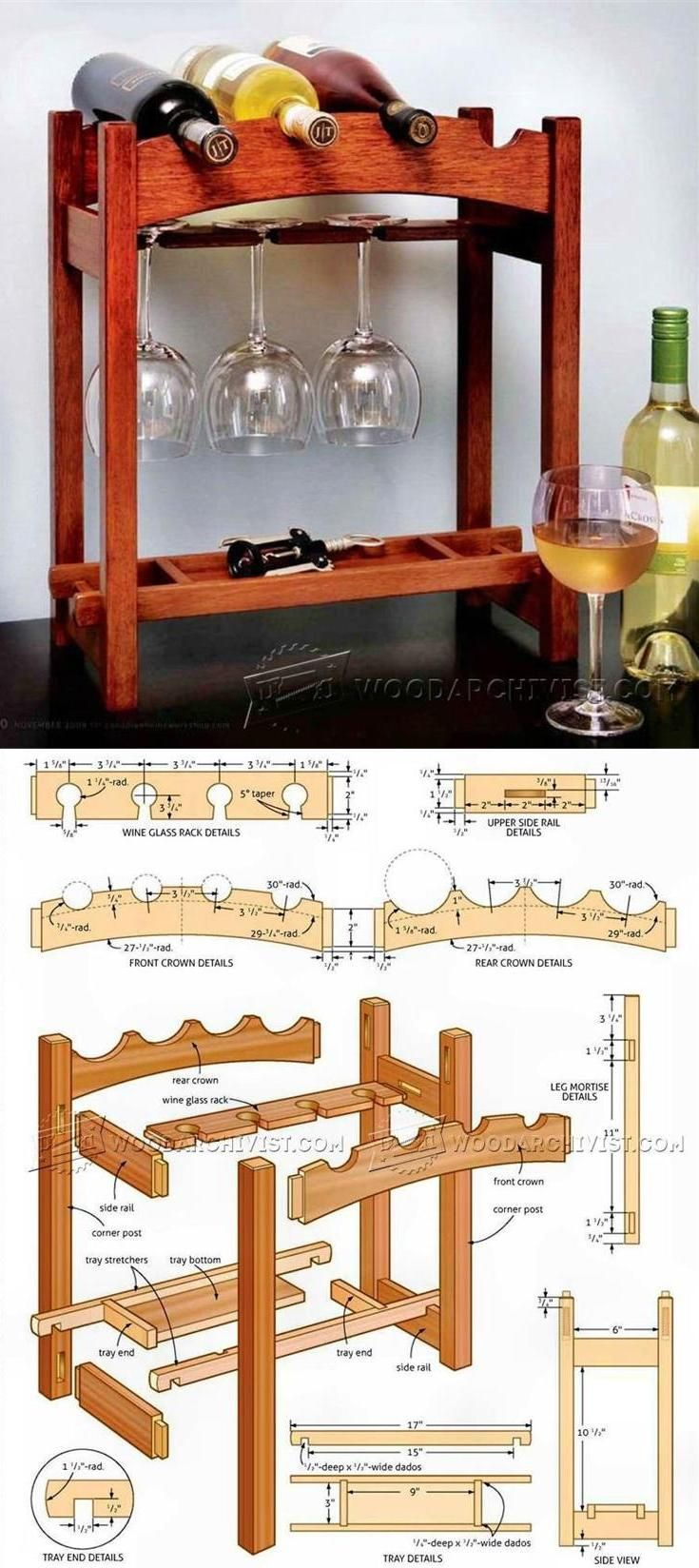 Wine Rack Plans - Furniture Plans and Projects | WoodArchivist.com