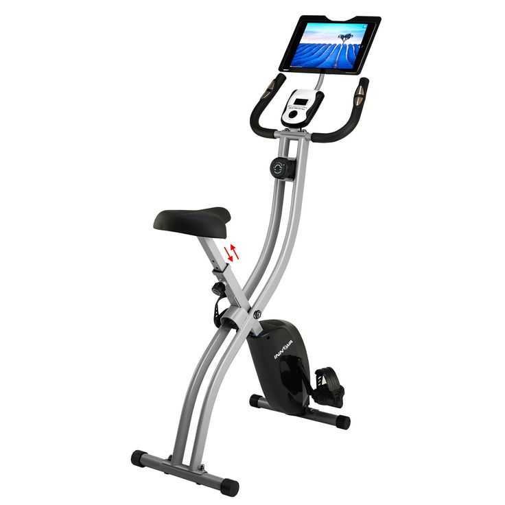 Innova Fitness Folding Upright Bike with Tablet Holder - XB350