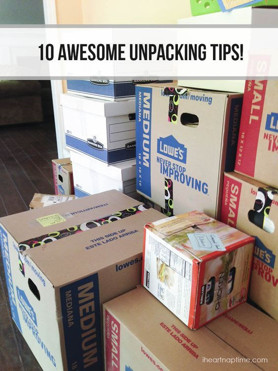There are tons of great packing tips out there for a big move, but what about UNpacking? 10 Awesome Unpacking Tips | via I Heart Nap Time