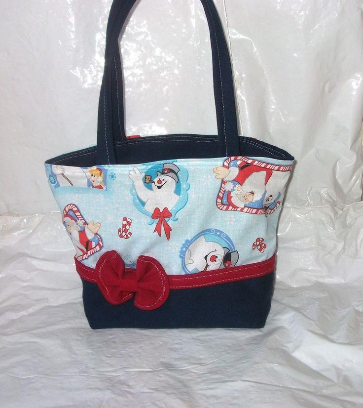Frosty The Snowmen New Tote Bag ~ Purse~ Handbag~Super CUTE!!! #Handmade #TotesShoppers