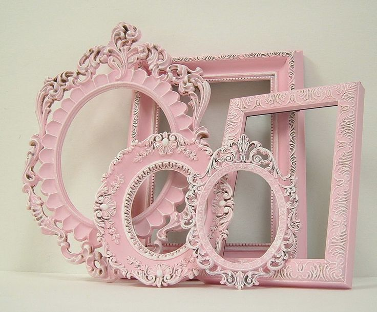 Shabby Chic Picture Frame Pastel Pink Picture Frame Set Ornate Frames Wedding Nursery Shabby Chic Home Decor. $87.00, via Etsy.