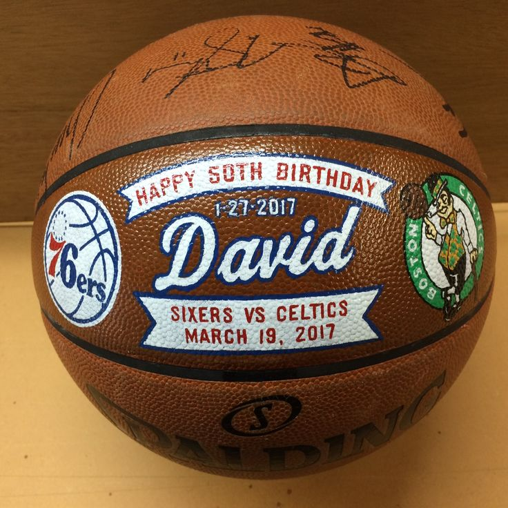 "Socha Sports Gifts has the honor of joining the Philadelphia 76ers in wishing David a ""Happy 50th Birthday"".  What do YOU have to celebrate? Create an everlasting memento with Socha Sports Gifts today. Visit our website http://sochasigns.com for more information."